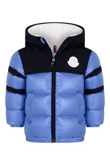Baby Boys Pastel Blue Down Padded Elm Jacket