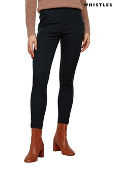 Whistles Navy Super Stretch Trousers