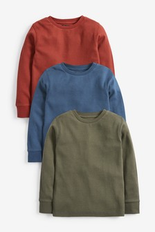 Multi 3 Pack Cosy Eyelet T-Shirts (3-16yrs)