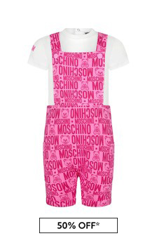 Moschino Baby Girls Purple Cotton Outfit