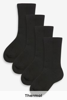 Black 4 Pack Thermal Socks (Older)