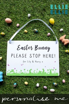 Personalised Easter Bunny Please Stop Here Sign by Ellie Ellie