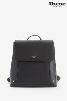 Dune London Dora Di Black Synthetic Casual Zipped Backpack