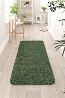 My Rug Green Soft Stain Resistant And Washable Rug