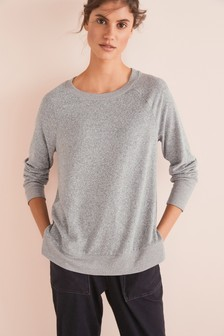 Grey Cosy Raglan Top