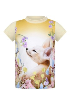 Baby Girls Ivory Organic Cotton Fennec T-Shirt