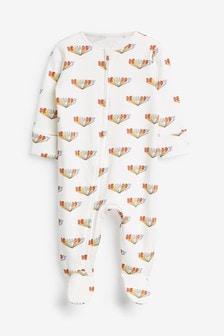Bright Slogan Zip Single Sleepsuit (0-2yrs)