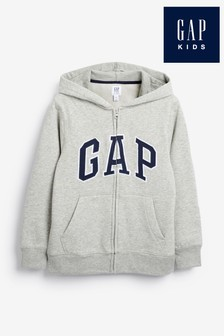 Gap Boys Logo Zip Through Hoody