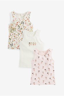 Pink/White 3 Pack Fairy Vests (1.5-12yrs)