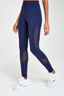 Navy High Waisted Full Length Sculpting Leggings