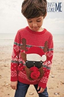 Christmas Reindeer Jumper (3-16yrs)