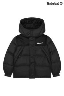 Timberland Kids Black Logo Padded Jacket