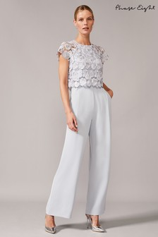 Phase Eight Mineral Brandie Lace Bodice Jumpsuit