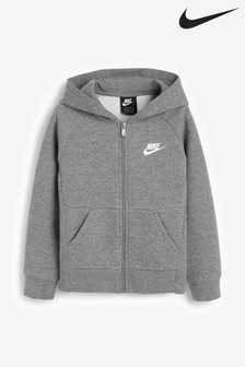 Nike Little Kids Grey Premium Essential Full Zip Hoodie