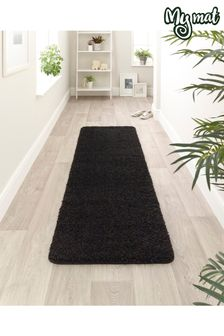 My Rug Black Washable And Stain Resistant And So Soft Textured Rug