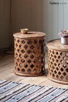 Jaipur Natural Coloured Side Table By Hudson Living