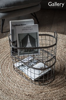 Set of 2 Lonnie Metal Storage Baskets by Gallery Direct