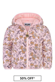 Baby Girls Pink Teddy Jacket