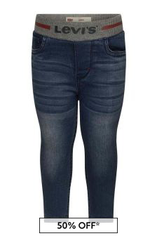 Baby Boys Blue Pull-On Skinny Jeans