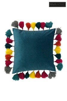 Multicoloured Tassel Cushion by Riva Home