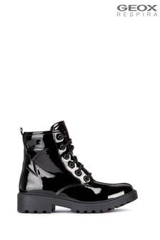 Geox Junior Girl's Casey Black Boots