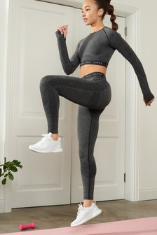 Grey Lipsy Grey Seamfree Lifting Sports Leggings