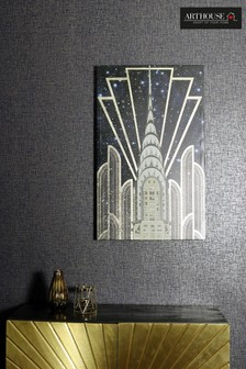 Gold Chrysler Foil Canvas by Arthouse