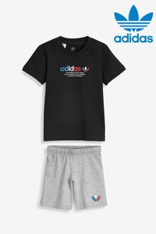 adidas Originals Infant Black T-Shirt and Shorts Set