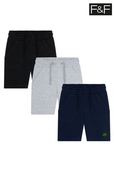 F&F Multi Sweat Shorts Three Pack