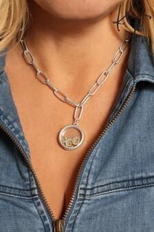 Kate Thornton 'Celestial Love' Floating Locket Necklace