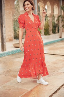 Red Emma Willis Wrap Dress