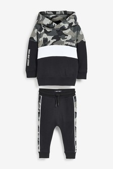 Monochrome Camo Hoody And Jogger Set (3mths-7yrs)