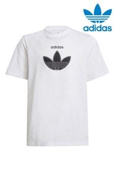 adidas Older Boys White Originals Sporty T-Shirt