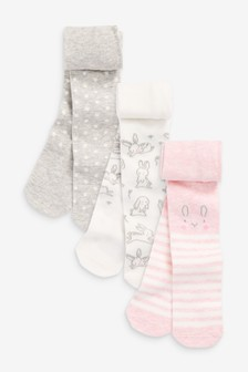 Pink 3 Pack Character Tights (0mths-2yrs)