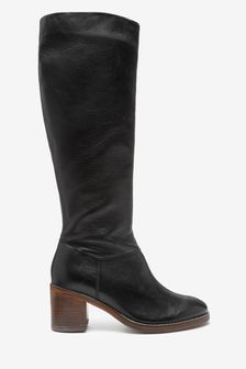 Black Forever Comfort® Soft Leg Knee High Boots