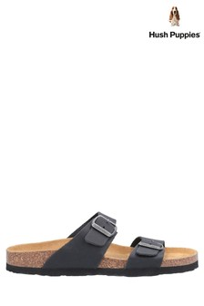 Hush Puppies Black Kylie Mule Sandals