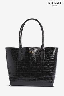 L.K.Bennett Lacey Black Tote Bag