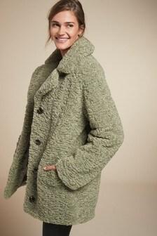 Sage Teddy Borg Coat