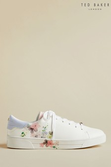 Ted Baker White Floral Trainers