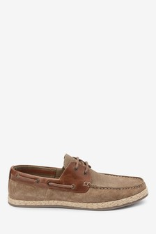 Taupe Suede Boat Shoes