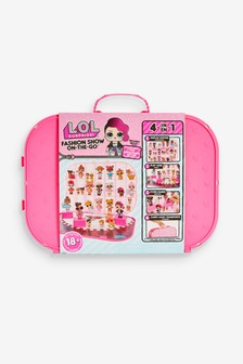 L.O.L. Surprise! Fashion Show On-the-Go Playset & Storage Carrying Case - Hot Pink