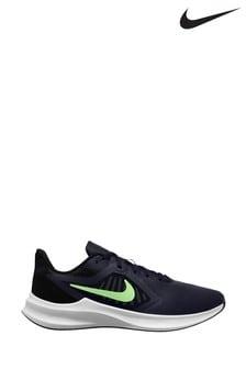 Nike Run Navy/Green Downshifter 10 Trainers