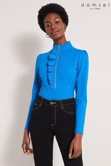 Damsel In A Dress Blue Galina Ponte Top