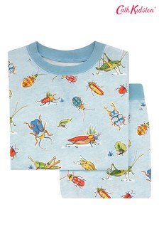 Cath Kidston Blue Bugs Kids Jersey Pyjamas