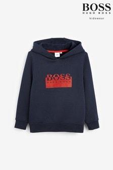 BOSS Navy Logo Hoodie