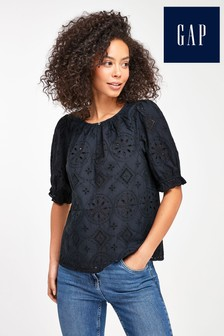 Gap Ruffle Eyelet Top