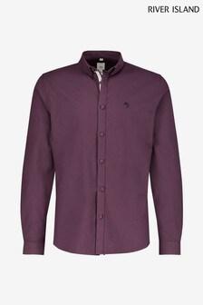 River Island Dark Red Oxford Shirt