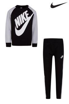 Nike Little Kids Grey Futura Crew/Joggers Set