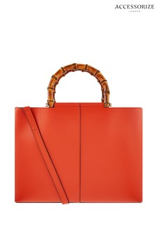 Accessorize Orange Heidi Handheld Bag