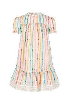 فستان من مزيج القطن أسودللبنات البيبي